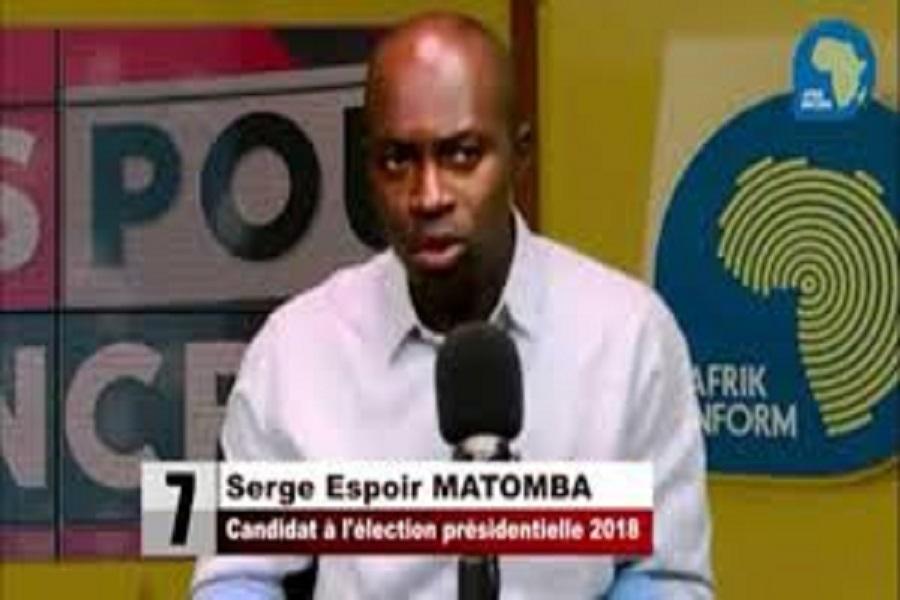 """Cameroun-Présidentielle 2018: Serges Espoir Matomba: """"Je suis prêt à défendre mes voix jusqu'au bout""""."""