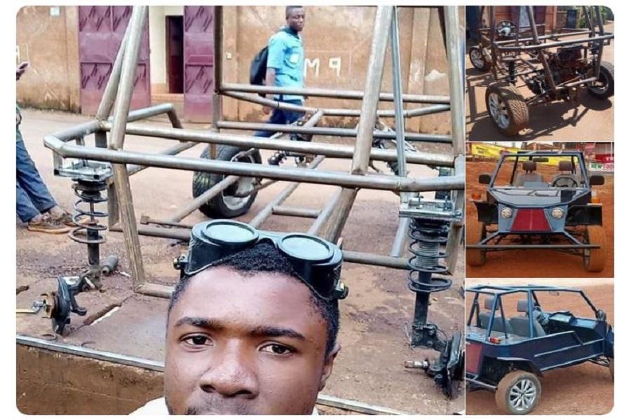 Cameroun : Après avoir abandonné l'école au CM2, Cédric Simen fabrique «  une voiture tout-terrain »