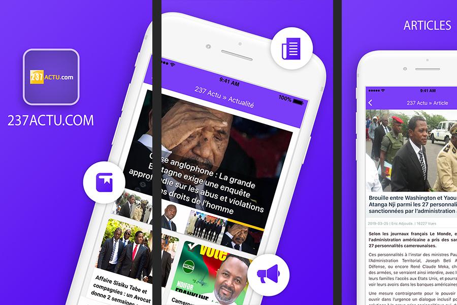 237 Actu, l'application mobile, la version 4.5 est disponible