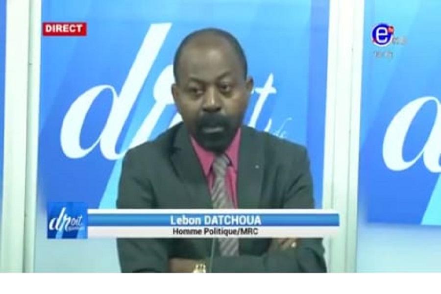 Anglebert Lebon Datchoua : « On va finir par faire un rapprochement entre Boko Haram et le MRC »