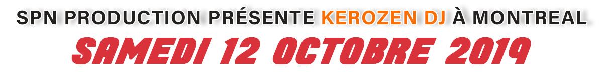 Banner Cover Kerozen à Montréal le 12 octobre 2019